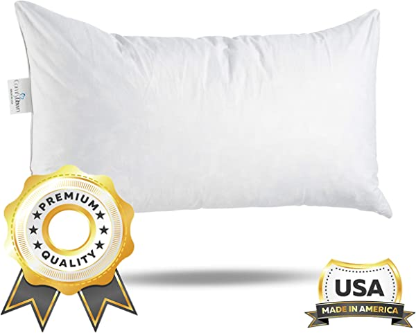 ComfyDown 95 Feather 5 Down 14 X 22 Rectangle Decorative Pillow Insert Sham Stuffer Made In USA