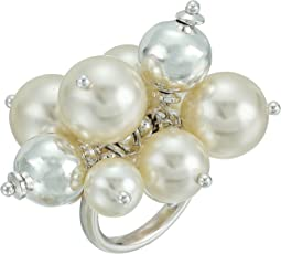 Chan Luu - Base Metal Ring with Cluster Pearls