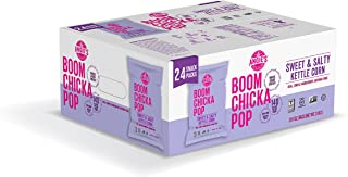 Angie's BOOMCHICKAPOP Gluten Free Sweet and Salty Kettle Corn, 1 Ounce Vegan Snack Pack Bags (Pack of 24)