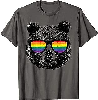 Bear Gay Distressed Rainbow Sunglasses Tshirt