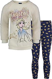 Disney Frozen Girls Fleece Fashion Top and Leggings Set