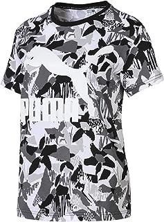 Puma Classics Logo AOP Training Sport Top for Women, Size XS Black & White
