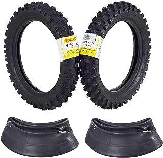 Pirelli Scorpion MX Extra J 2.50-10 Front 2.75-10 Rear Pit Bike Motocross Tire Set w Tubes 2.5-1 2.75-10