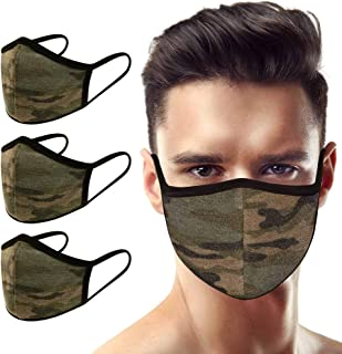 3 Pack Made in USA Men's 3D Face Mask – Protective, Reusable, Comfortable and Breathable Mouth and Nose Cover