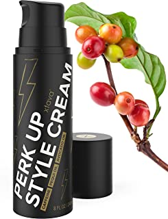 Xtava Women's Perk Up Hair Styling Cream - 8 Fl.Oz Caffeinated Hair Styler with Argan Oil for Hair Volume and Bounce - Moisturizing Anti Frizz Hair Products for Straight, Wavy, Natural and Curly Hair