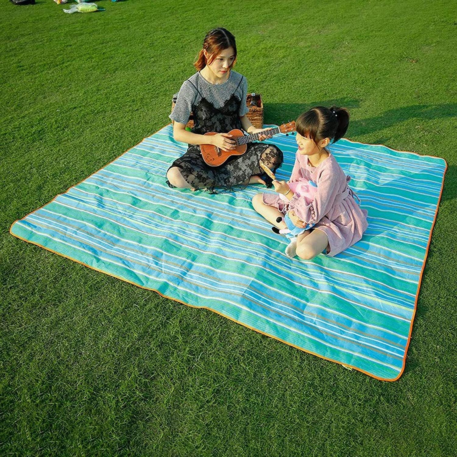 Portable Outdoor Carpet Mat, Picnic Blanket, Beach, 200 X 180 cm Sandproof Outdoor for Camping