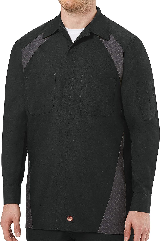 Fees free!! Red Kap Men's Diamond Long-Sleeve Work Shirt National uniform free shipping Plate