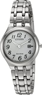 Citizen Women's 'Eco-Drive' Quartz Stainless Steel Casual Watch, Color:Silver-Toned (Model: EW2480-59A)