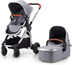 Mompush 2020 Full-Size Standard Stroller, One-Step Fold, Full Size Front or Rear Facing Toddler Seat, X-Large Easy-Access ...