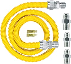 Dormont 0240892 Gas ApplianceConnectorKit, 48 In. Long 5/8 In. Outlet Diameter, Yellow Coated
