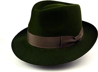 a0b17bafa38a0 The Hunter - Rabbit Fur Felt Handmade Teardrop Fedora Hat - Medium Brim -  Men Women