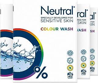 Neutral Waspoeder Kleur Parfumvrij - 180 wasbeurten - 4 pakken - Voordeelverpakking