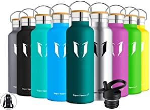 Super Sparrow Bottiglia - Borraccia Termica Acqua in Acciaio Inox - 350ml, 500ml, 620ml, 750ml - Bottiglie Doppia Parete Isolato a Vuoto - Senza BPA - Processo di Verniciatura a Polvere