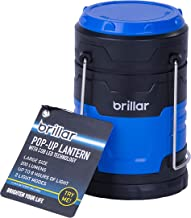 Brillar BR0027-BL BR0027-BL COB LED Large Popup Lantern Compact Design Durability Easy Carry Storage 4 AAA Batteries Inclu...