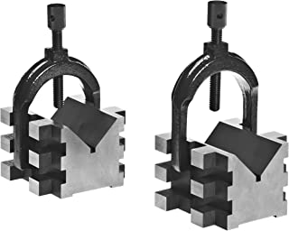 Brown & Sharpe 750-2 4 Piece V Block and Clamp Pair Set, Hardened Steel, 0.0003