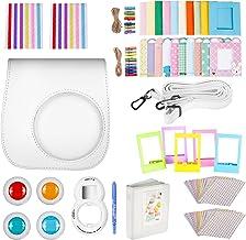 Neewer - Kit de Accesorios 10 en 1 para Fujifilm Instax Mini 9 8+ 8/8s: Funda de cámara/álbum/Lente de Selfie/4 filtros de Colores/5 Marcos de mesa/20 Marcos y más