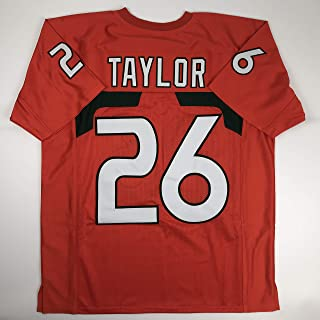 Unsigned Sean Taylor Miami Orange Custom Stitched College Football Jersey Size Men's XL New No Brands/Logos