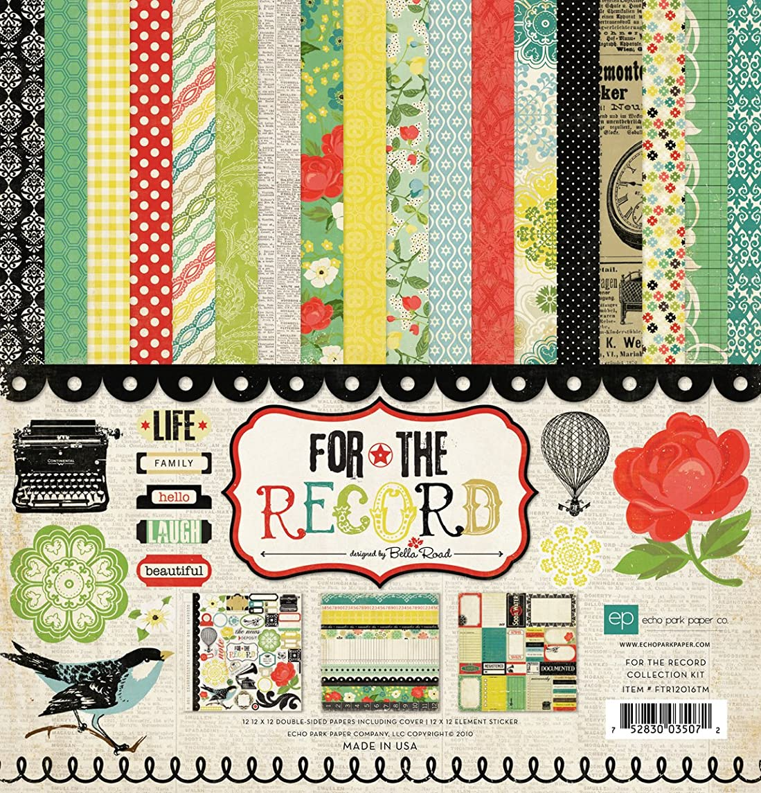 Echo Park Paper 12x12 Collection Kit - for The Record