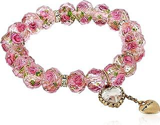 Tzarina Pink Beads Stretch Bracelet