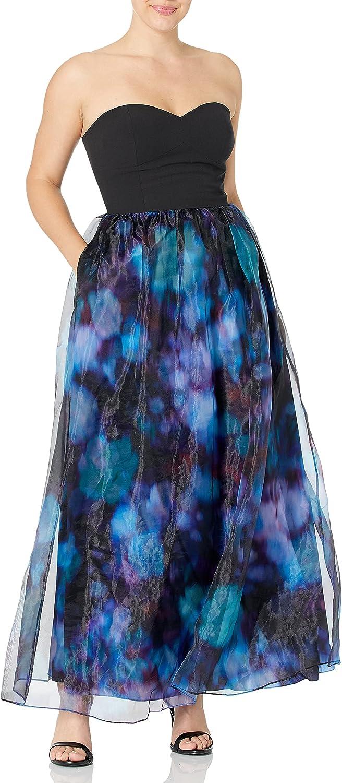 Aidan by Aidan Mattox Women's Strapless Printed Skirt Gown