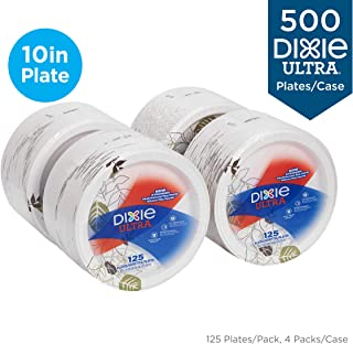 Dixie Pathways Soak-Proof Shield Paper Plates 8 1//2 Grn//Burg 125//Pk 4 Pks//Ct