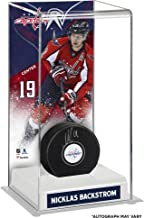 Nicklas Backstrom Washington Capitals Autographed Puck with Deluxe Tall Hockey Puck Case - Fanatics Authentic Certified