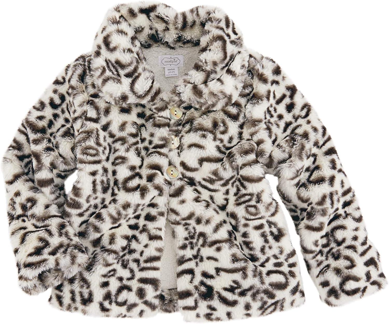Mud Pie Girls Brown Faux Fur Vest: Clothing