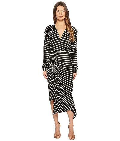 Preen by Thornton Bregazzi Annabel Dress (Black/White Stripe) Women