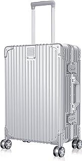 BYEIN スーツケース キャリーケース 半鏡面 アルミフレーム 超軽量 耐衝撃 シンプル 静音ダブルキャスター TSAロック付 機内持込 旅行出張