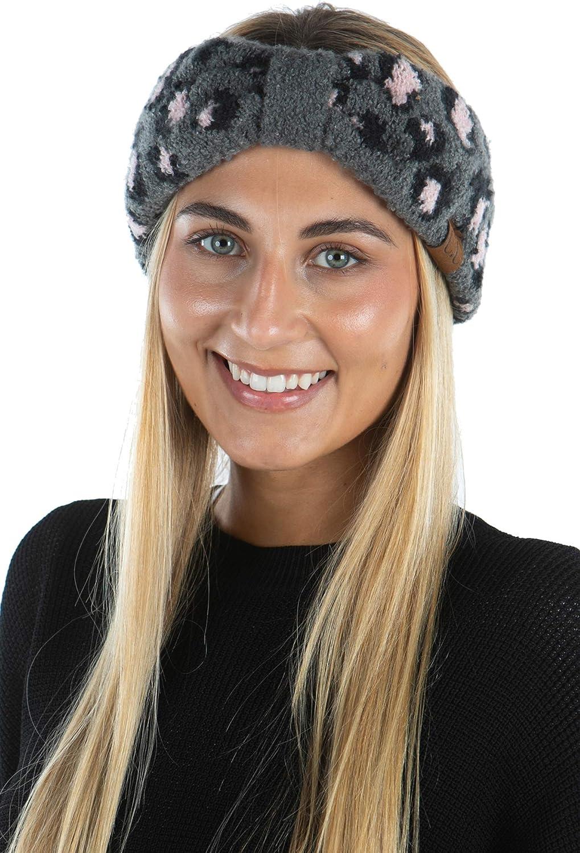 Funky Junque Womens Headwrap Soft Knit Warm Ear Warmer Bow Turban Style Headband