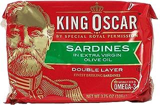 King Oscar Sardines, in Extra Virgin Olive Oil 3.75 Oz (Pack of 6)