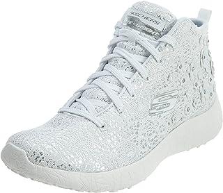 SKECHERS BURST- SEEING STARS, Women's Fashion Shoes, White/Silver, 39 EU