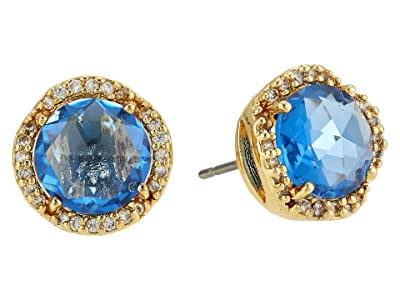 Kate Spade New York That Sparkle Pave Round Large Studs Earrings (Sapphire) Earring