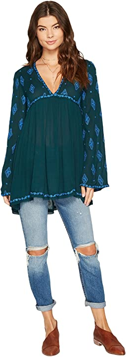 Free People - Diamond Embroidered Top