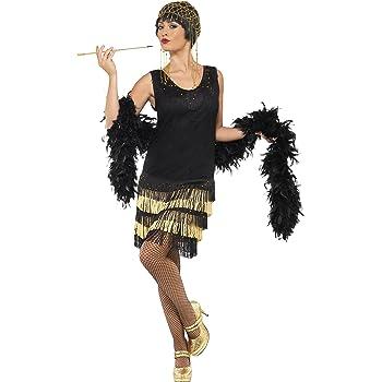 Costume Charleston 20er anni abbigliamento Zwanziger anni abito nero S 36//38