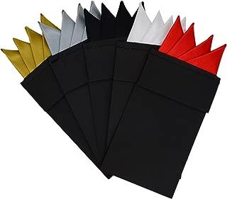 5pcs Men's prefolded pocket squares for men, pre folded pocket squares handkerchief suits accessories HSP03