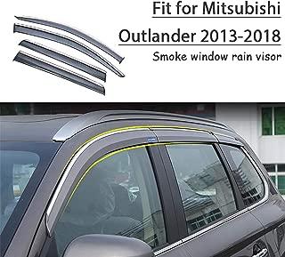 HCDSWSN deflectores de Lluvia,Protector de deflectores de Visera de Lluvia de Sol de Ventana de Humo de Estilo de Coche 4pcs para Mitsubishi Outlander 2010 2011 2012 Accesorios