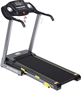MaxKare Treadmill with 15 Pre-Set Programs, 2.5HP Power, Wide Tread Belt, 8.5 MPH Max Speed, LCD Screen, Cup Holder & Wheels, Easy Assembly,Folding Running Machine, Black (801)
