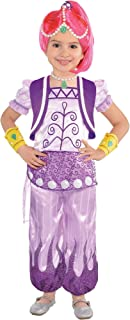 Shimmer and Shine Halloween Costume for Toddler Girls, Shimmer, 3-4T, with Included Accessories