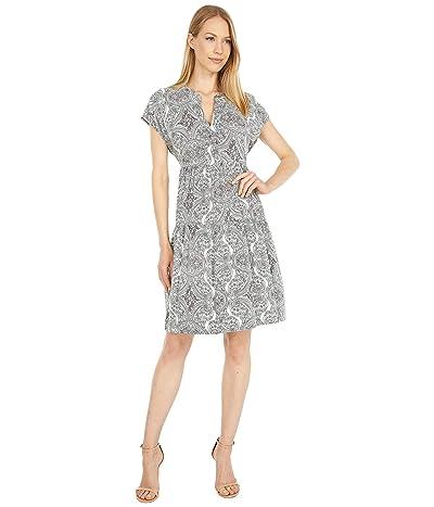Calvin Klein Paisley Print Tiered Dress