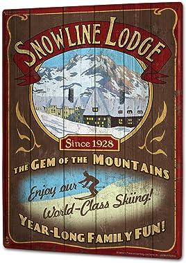 LEotiE SINCE 2004 Plaque en Métal Métallique Poster Mural tin Sign 40x30 cm Aventurier Chalet de Ski