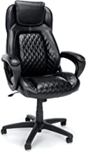 Essentials High-Back Executive Chair - Racing Style Leather Office Chair with fixed Arms, Black