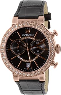 Swarovski Women's Citra 5055209 Black Leather Swiss Quartz Watch