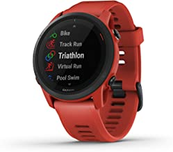 Garmin Forerunner 745, GPS Running Watch, Detailed Training Stats and On-Device Workouts, Essential Smartwatch Functions, Red