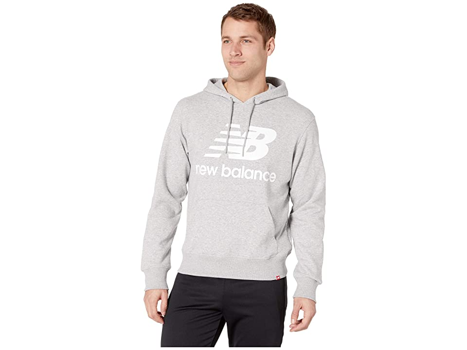 New Balance Essentials Stacked Logo Pullover Hoodie (Athletic Grey) Men