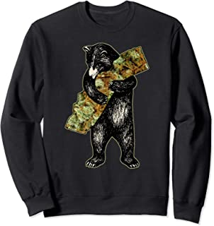 Marijuana I Love Weed California Shirt Art-Retro Cali Bear Sweatshirt