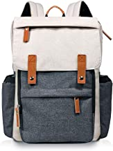 Hap Tim Diaper Bag Backpack Muilti-Function Waterproof Large Capacity Travel Diaper Backpack for Baby Care with Stroller Straps,Insulated Pockets(K1004US-WG)