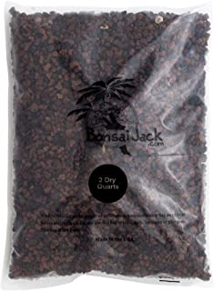 Bonsai Jack - Red/Maroon 1/4 inch Horticultural Lava Rock Soil Additive for Cacti, Succulents, Plants - No Dyes or Chemicals - 100% Pure Volcanic Rock (2 Quarts, Top Dressing)