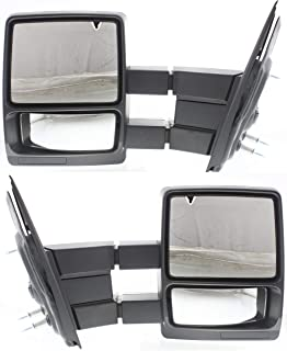 Tow Mirror Set For 2004 2014 Ford F-150 Left & Right Side Manual Fold Textured