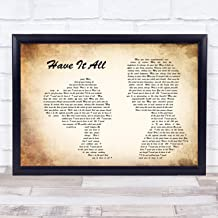 123 BiiUYOO Jason Mraz Have It All Man Lady Couple Song Lyric Print with Frame 14